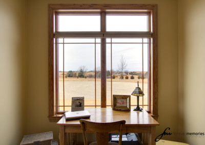 Desk with outside view