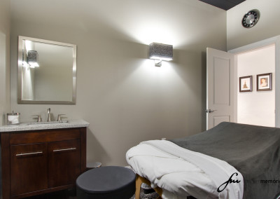 Allure Salon Massage Room with Massage Table