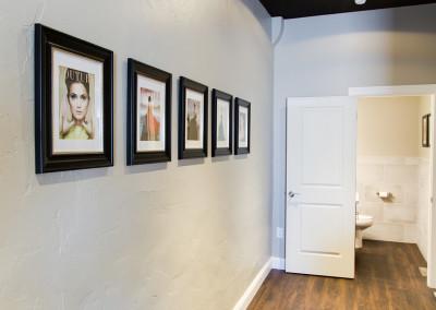 Allure Salon Hallway and Art