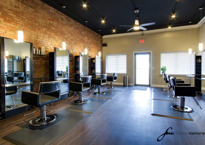 Allure Salon Hair Styling Stations