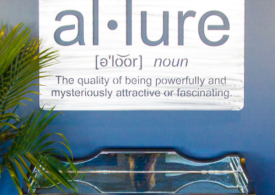 Allure Salon Sign Close Up