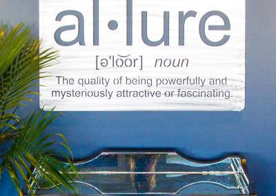 Allure Salon Sign Close Up