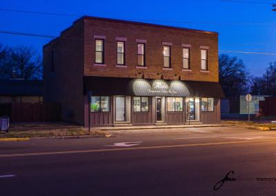 Allure Salon Building at Night