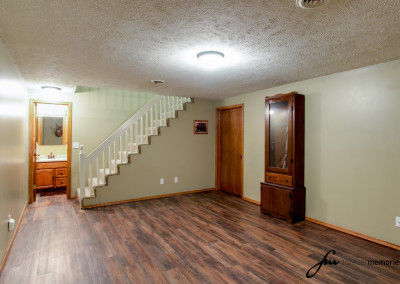 Basement and stairwell